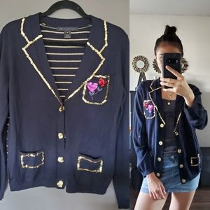 MARC BY MARC JACOBS HEART SEQUIN CARDIGAN